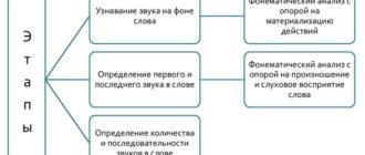 фонематический анализ и синтез в онтогенезе
